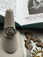 Sterling Silver Past Masters Masonic Ring