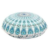 Indian Large Round Floor Pillows Case Mandala Throw Cushion Covers Home Decor