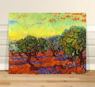 """Sunrise over Olive trees Van Gogh ~ CANVAS PRINT 36x24"""" ~ Classic Abstract Art"""