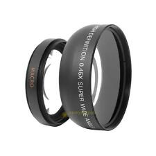 for 55mm 0.45x Wide Angle + Macro Conversion Lens For DSLR DC Camera Camcorder