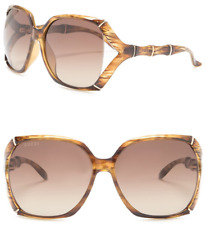 25c796a54c Gucci Bamboo Gg3508s Translucent Brown Horn Gold Gradient Sunglasses 3508  0505