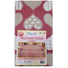Mobilier de tissu Rouge avec un cœur 170x280 couvre tout granfoulard Housse