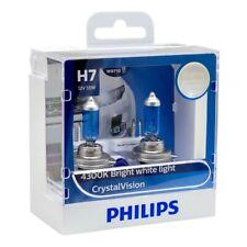 Philips H7 Crystal Vision 12V 55W 4300K Bright White Light 12972CVS2 Pack of 2