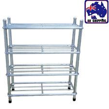 Shoe Rack  Stainless Stand Shelf Easy DIY 4 Tier Organiser Portable HFSH35101