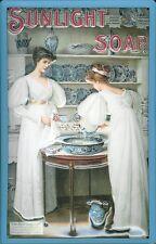 Vintage Style 3D/Embossed Metal Sign Sunlight Soap Ladies Laundry Washroom Decor