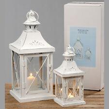 2er Set Laternen Metall weiß 26-46cm,Kerzenhalter,Windlicht,Shabby Chic,NEU!!