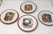 Lot of 7 Pottery Barn Kids Melamine Santa Plates by Ruth Sanderson Christmas