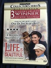 Life Is Beautiful Dvd Complete With Original Case & Cover Art Roberto Benigni
