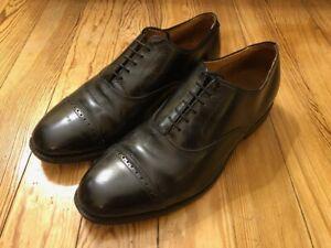 Allen Edmonds Byron Black Leather Cap Toe Oxford Dress Shoe SZ 11 EEE Wide