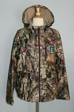 NEW Ladies MOSSY OAK Scent Control Waterproof Jacket Camo Break-Up Country L XL