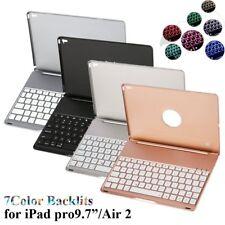 "iPad Pro 9.7"" Air 2 iPad Mini Keyboard Case Cover Bluetooth Stand LED Backlit BP"