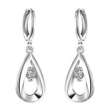 Earrings Drop Dangle Silver Plated Fashion Jewelry Women Long Crystal Bohemian
