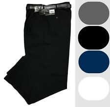 Mens Dress Pants - Pleated Slacks W/ Belt - Solid Trousers - Sizes 28 to 42