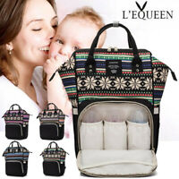 LEQUEEN Large Mummy Rucksack Maternity Nappy Diaper Bag Baby Travel  New