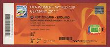 Orig.Ticket    Frauen WM DEUTSCHLAND 2011   NEUSEELAND - ENGLAND // Spiel 12  !!