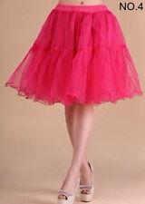"""Hot Tulle Skirt 20"""" knee length Crinoline Petticoat Tutu Dancewear Skirt Slip"""