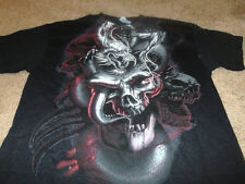 New MMA Skull Dragon Mens Black UFC Fight T-Shirt Size Medium M