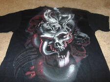 New MMA Skull Dragon Mens Black UFC Fight T-Shirt Size Medium M