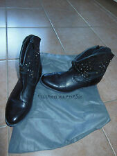 AS NEW FILIPPO RAPHAEL LEATHER  womens  ankle  leather boots, shoes Sz-37EUR