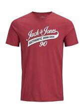 Jack & Jones Essentials Mens T-Shirt Logo Print Slim Fit Cotton Tee JJELogo