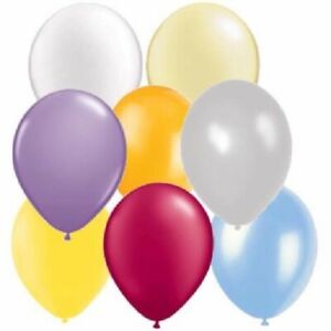 """5"""" 11""""12"""" PEARLISED  Pastel Latex Balloons Colours  Wedding Birthday Party"""