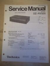 Technics Service Manual~SE-AV500 Amplifier/Amp~Original~Repair