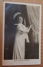 Postcard Edwardian Actress Miss Adrienne Augarde posted 1907