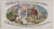 The Wolf And The Lamb Aesop's Fable Moral Story 1920s Ad Trade Card