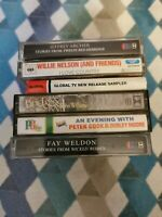 Cassette tapes bundle X6 Willie Nelson, Jeffrey archer, John Williams etc ..