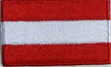 Austria Flag Small Iron On / Sew On Patch Badge 6 x 3.5cm Austrian Österreich