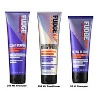 Fudge Clean Blonde Violet Silver Toning Purple Shampoo - 50 ,250 OR 250ML !! UK