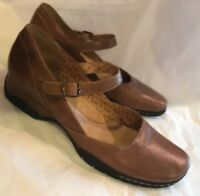 SOFFT Women's Shoes Flats Sz 10 Brown Leather Mary Janes Wedge