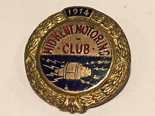 1914 VINTAGE CAR LAPEL PIN ENAMEL BADGE MID KENT MOTORING CLUB SHOWING MAGNETO