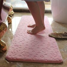 Large Bathroom Mat Water Absorption Toilet Rug Shaggy Non Slip Home Decor Carpet