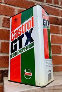 CASTROL GTX ORIGINAL OIL CAN AUTOMOBILIA GARAGE  VINTAGE CAN RETRO MAN CAVE