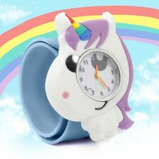 Kid's POPWATCH Cute Blue Unicorn Children's Animal Slap Snap Watch Boys Girls
