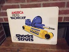 Vintage Hot Rod Monroe Max Adjustable Shocks & Struts Sign Gas Station