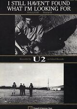 U2-I STILL HAVEN'T FOUND WHAT I'M LOOKING FOR PIANO/VOCAL/GUITAR SHEET MUSIC-NEW