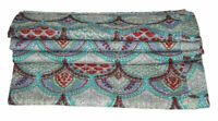 Paisley Print Cotton Bedspreads Reversible Cotton Quilts Blanket Full Size Gudri