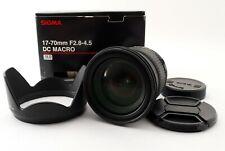 "Sigma AF 17-70mm F/2.8-4.5 DC Macro Lens for Pentax w/Box ""Excellent++"" #20536"
