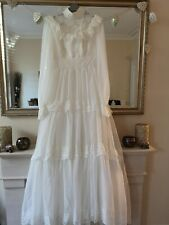 VINTAGE WEDDING DRESS 1979/80 PRONUPTIA DE PARIS 12 VICTORIAN HOOPED