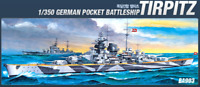 Academy 1/350 German Pocket Battleship Tirpitz Plastic Hobby Scale Model Kits
