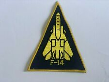 F-14 Embroidered Patch Vintage Blue Yellow