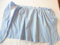 Apron Vintage Half Apron 1960's Handmade Blue Cotton