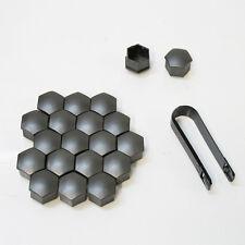 17mm Graphite Car Wheel Nut Bolt Covers Caps Fits Peugeot 207 307 407 20pcs