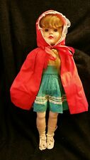 "Vintage 23"" Latex Little Red Riding Hood Doll"