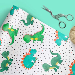 DINOSAUR WRAPPING PAPER | GIFT WRAP | WRAPPING PAPER | LUXURY WRAP