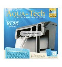 Aqua-Tech Ultra Quiet Power Filter for 10-20 Gallons Aquarium Fish Tank NEW