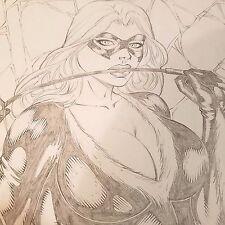 Marvel Black Cat Sexy Artwork - Original Drawing by Rivald of Ed Benes Studio