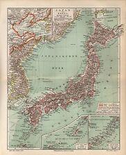 Japan und KoreaTokio Kioto Tokushima Landkarte von 1895